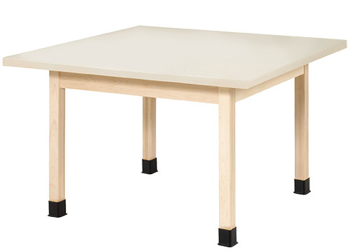 "Diversified Woodcrafts 4-Student Table 1-1/4"" Laminate Top, 48""W x 48""D x 26""H"