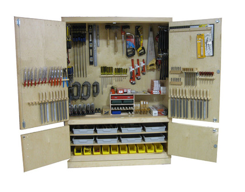 """Hann 60"""" Metalworking Cabinet with Tools"""
