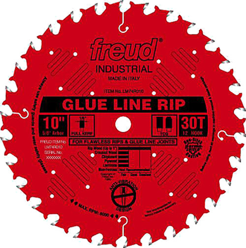 """Freud Carbide-tipped Saw Industrial Glue Line Ripping Blade, 12"""""""