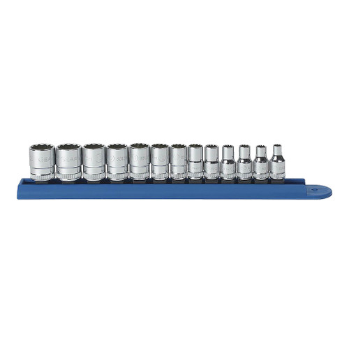 "GearWrench 1/4"" Drive 12-Point Standard Metric Sockets, 13-Piece Set"