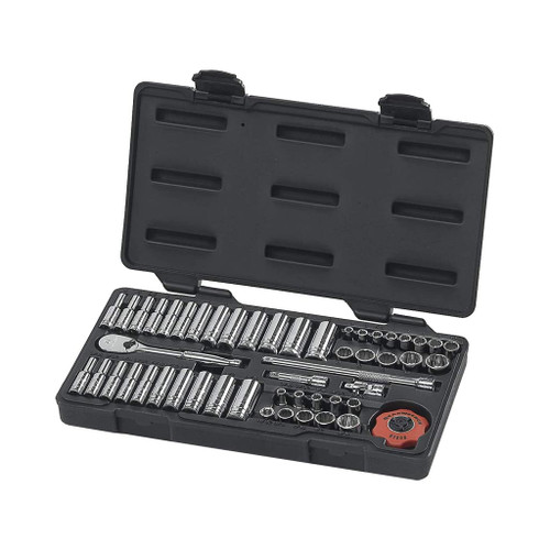 "GearWrench 1/4"" Drive 12-Point Standard & Deep SAE/Metric Sockets, 51-Piece Set"