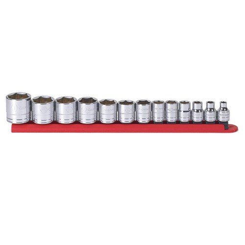 """GearWrench 3/8"""" Drive 6-Point Standard SAE Sockets, 13-Piece Set"""