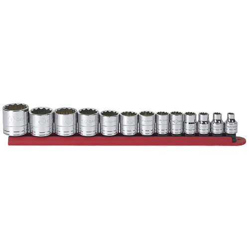 "GearWrench 3/8"" Drive 12-Point Standard SAE Sockets, 13-Piece Set"