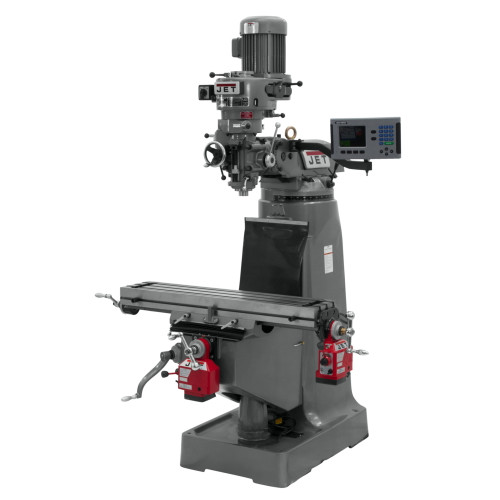 JET  JTM-1 Mill with ACU-RITE 200S DRO with X and Y-Axis Powerfeeds