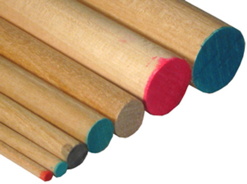 """Cincinnati Dowel Birch Dowel Rod, 1-1/4"""" x 48""""L"""