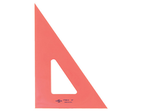 """Alvin Triangle, Fluorescent Orange, 30/60, 8"""""""