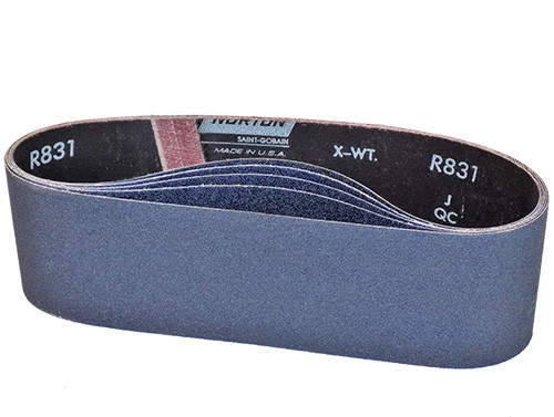 "Norton ProSand Zirconia Alumina Sanding Belt, 4"" x 24"" 50 Grit, 5/pkg."