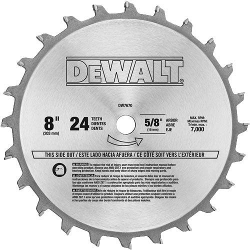 "DeWalt 8"" CT Dado Set"