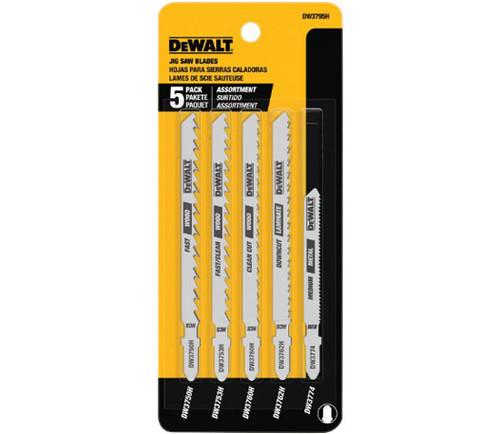 DeWalt 5-Piece T-Shank Bi-metal Jig Saw Blades