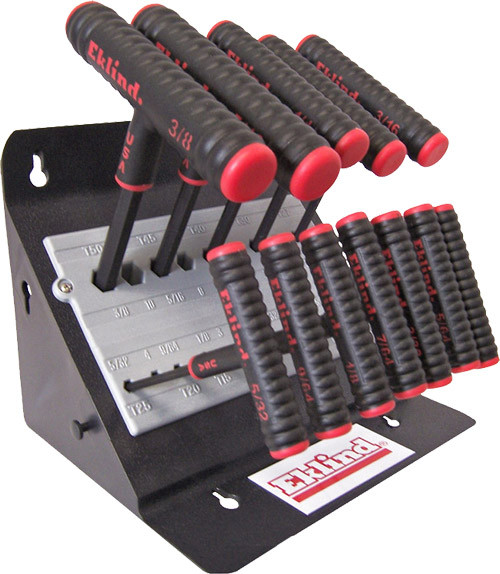 "Eklind Power-T T-Handle Hex Key Set Fractional 11-Piece, 9"""