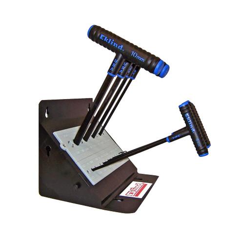 "Eklind Power-T T-Handle Hex Key Set Metric 8-Piece, 9"""