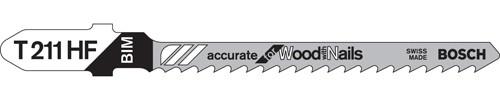 """Bosch T-Shank Bi-metal Jig Saw Blades, All-purpose 3""""L x 10 TPI 5/pkg."""