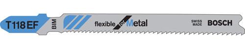 """Bosch T-Shank Bi-metal Jig Saw Blades, Metal 3-5/8""""L x 11-18 TPI 5/pkg."""