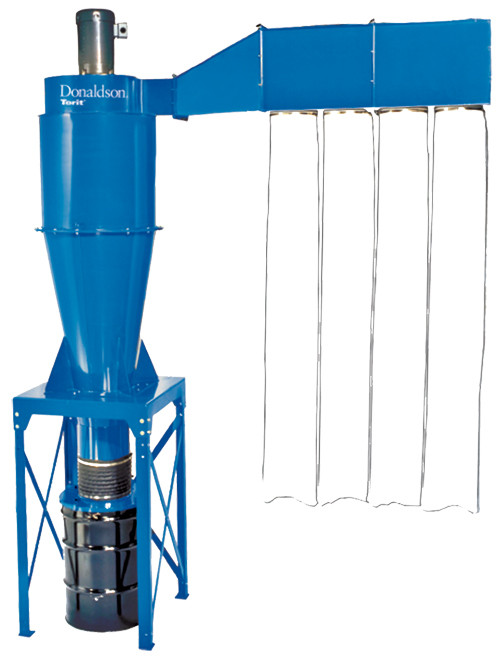 Donaldson 2-Stage Cyclone Dust Collector w/After-filter Assembly, 5 HP