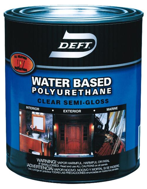 Deft Water-based Polyurethane, Semi-Gloss, Qt.