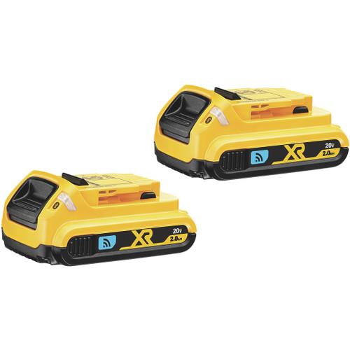 DeWalt 20V MAX Compact XR Lithium Ion Battery Pack, 2.0 Ah 2-Pack