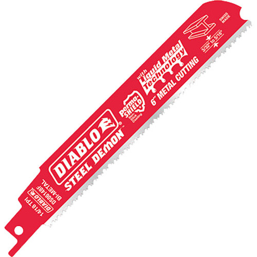 "Diablo STEEL DEMON Bi-Metal Reciprocating Blades, 6"", 14/18 TPI"