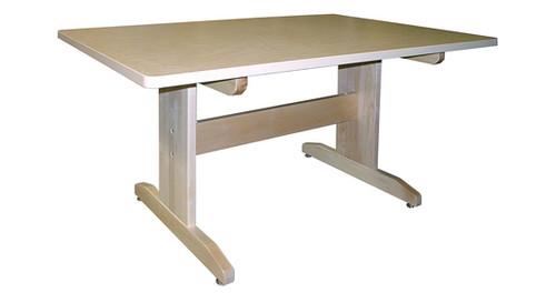 """Hann Art Table Series 1-1/4""""T Maple Grain Laminate Top 72""""W"""