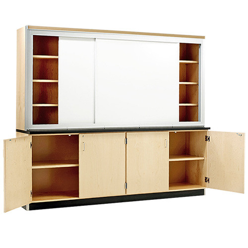 """Diversified Woodcrafts 96"""" White Board Wall Cabinet Maple"""