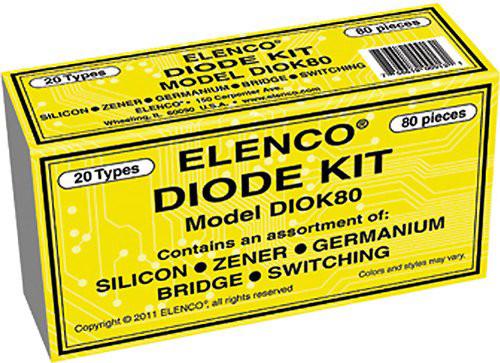 Elenco 80-Piece Diode Kit