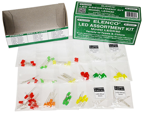Elenco LED Assortment Kit, 80-Piece