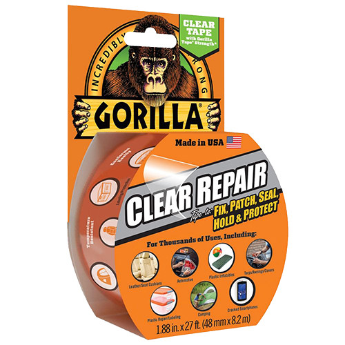 Gorilla Glue Clear Repair Tape, 27'