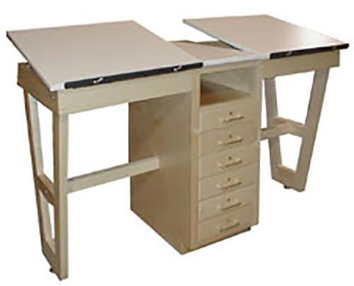 Hann Dual Drawing Table w/6 Drawers