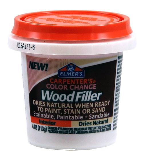 Elmer's Color Change Interior Wood Filler, Natural, 16 oz.