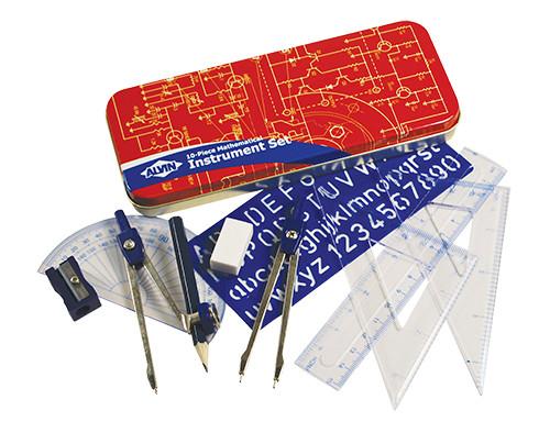 Alvin Mathematical Instrument Set, 10-Piece