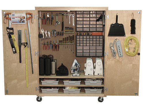 Midwest Makerspace Tool Cabinet with Tools