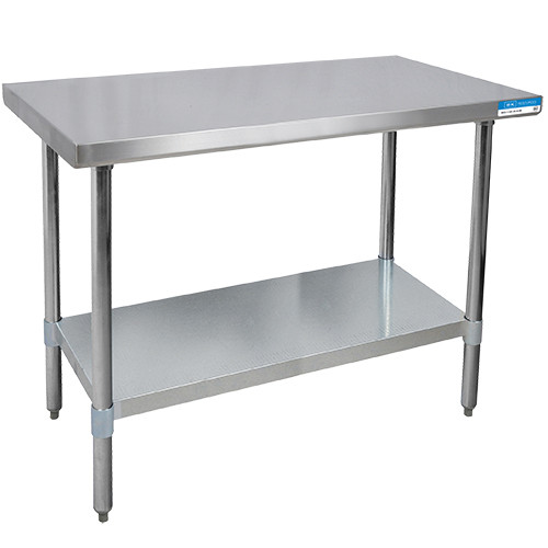 """Diversified Woodcrafts Stainless Steel Table, 48""""W x 30""""D x 35""""H"""