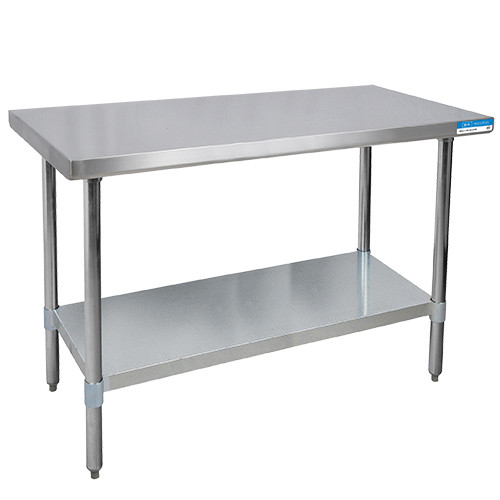 "Diversified Woodcrafts Stainless Steel Table, 60""W x 30""D x 35""H"