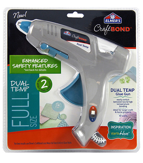 Elmer's Craftbond Enhanced Safety Dual Temp Glue Gun 40W