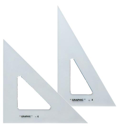 "Alvin Transparent Triangle Set 6"" and 8"""