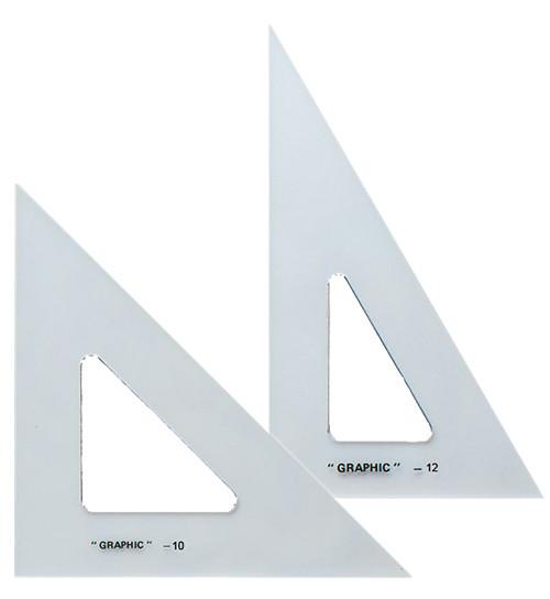 "Alvin Transparent Triangle Set 10"" and 12"""