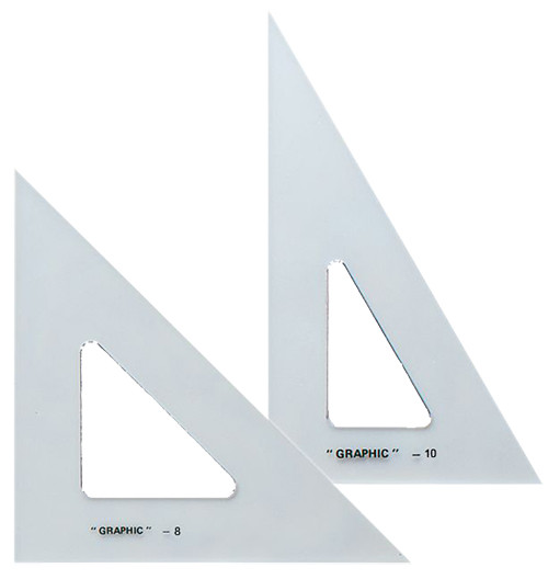 "Alvin Transparent Triangle Set 8"" and 10"""