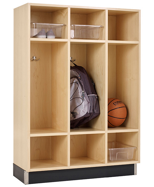 Diversified Woodcrafts Backpack Locker 3-Section