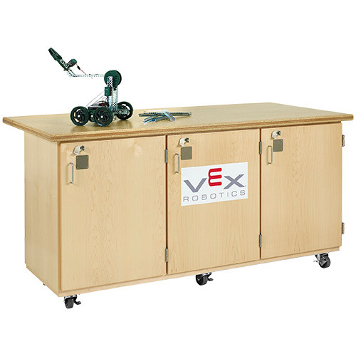 Diversified Woodcrafts Mobile Robotic Work Bench with VEX Label