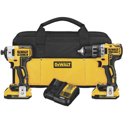 DeWalt 20V MAX XR Lithium Ion Brushless Compact Drill / Driver and Impact Driver Combo Kit