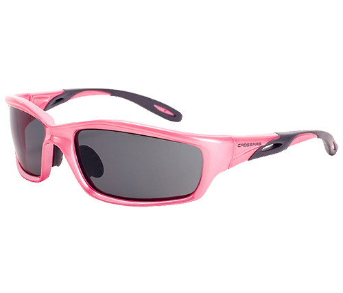 Crossfire Infinity Safety Glasses, Pink Frame, Smoke Lens