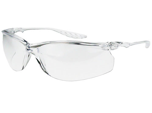 Crossfire 24Seven Safety Glasses, Clear Frame, Clear Lens