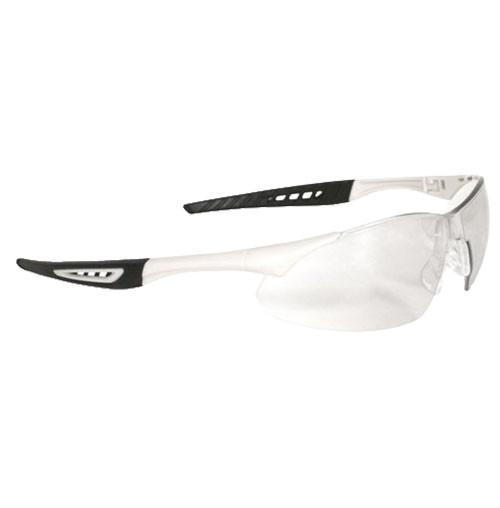 Radians Rock Safety Glasses, White Frame, Clear Lens
