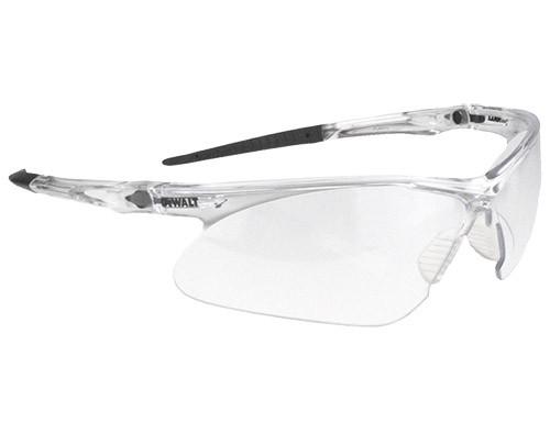 DeWalt Recip Safety Glasses, Clear Frame, Clear Lens