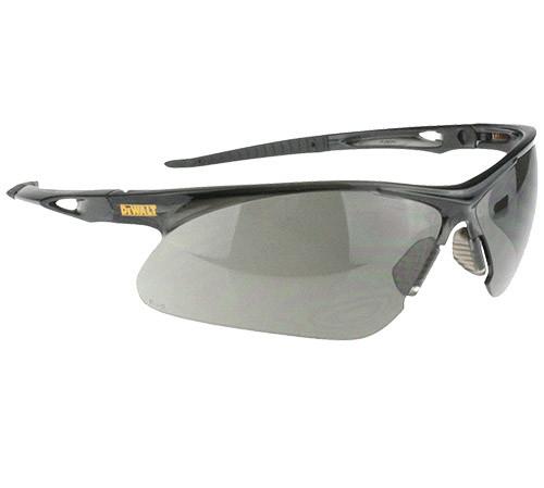 DeWalt Recip Safety Glasses, Black Frame, Smoke Lens