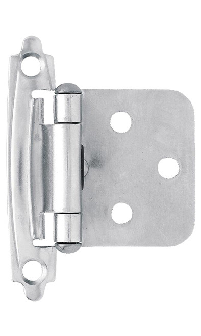 Brainerd Self-Closing Overlay Hinges, Chrome