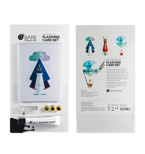 Bare Conductive Merry Resistivities Flashing Card Set