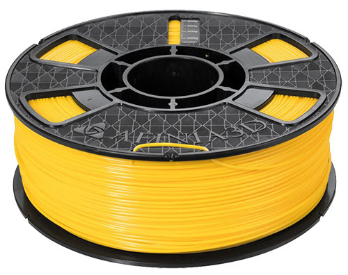 Afinia ABS Plus Premium Filament, 1.75mm 2.2 lb. Spool, Yellow