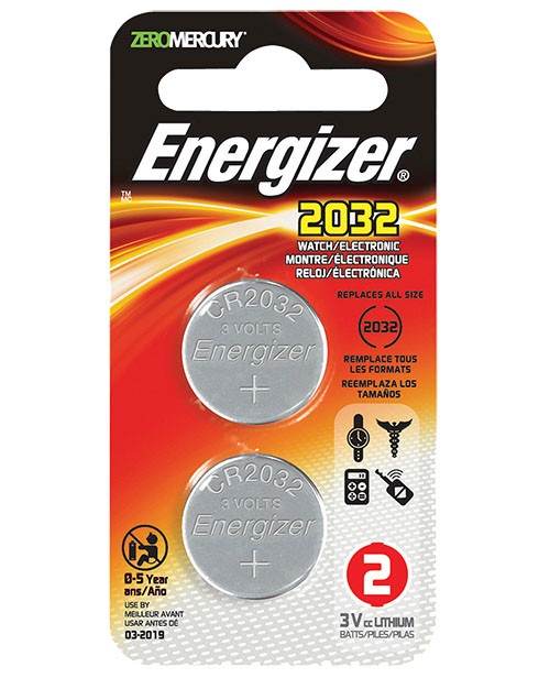 Energizer Lithium Coin Battery, 3V 2032