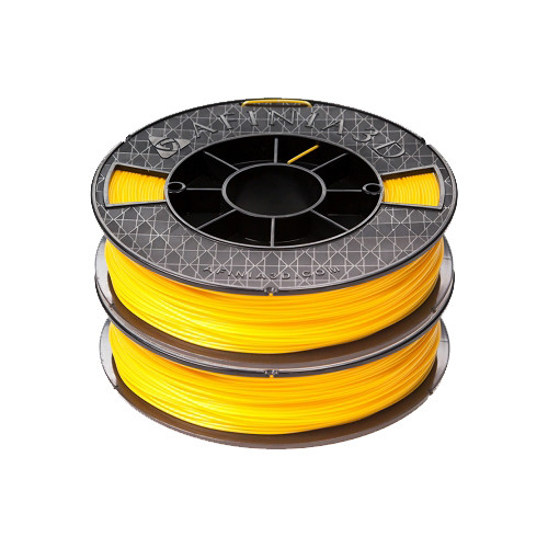 Afinia ABS Premium Filament 1.75mm, 1.1 lb. Spool, 2-Pack, Yellow