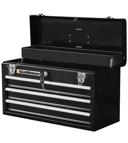 GearWrench Steel Tool Box, 3-Drawer